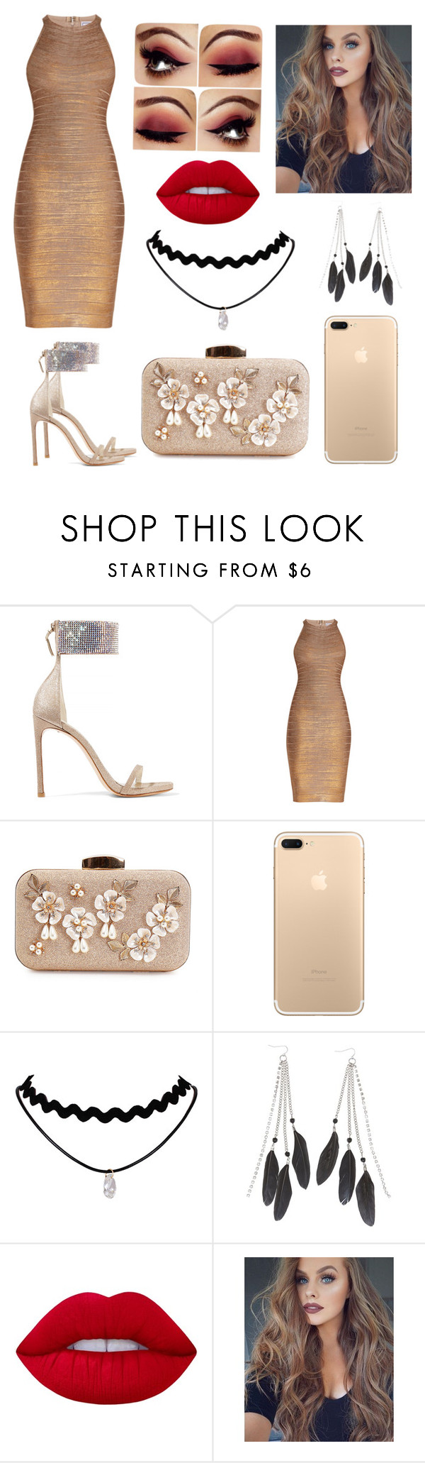 """""""Untitled #47"""" by kaaprinar ❤ liked on Polyvore featuring Stuart Weitzman, Hervé Léger, Charlotte Russe and Lime Crime"""