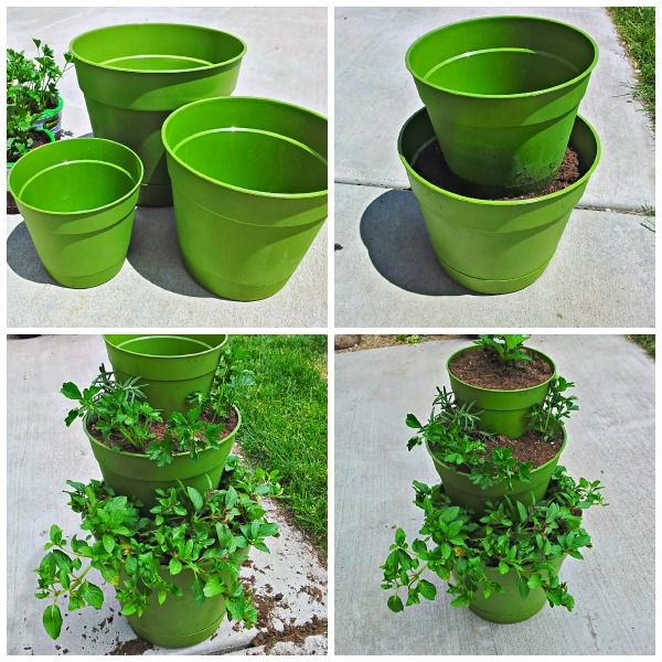 DIY: How To Make A Tiered Planter For Flowers And Herb Gardens