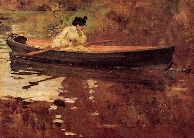 William Merritt Chase, Mrs. Chase in Prospect Park, Brooklyn, NY