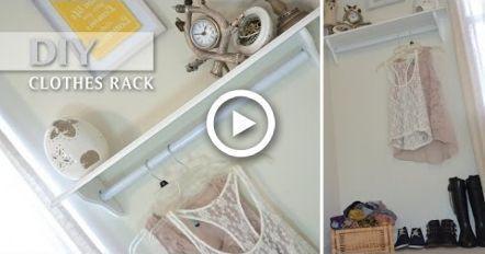 DIY Kleiderständer !! Preiswert dekorativ und funktional Kleine Räume Stil # ...#dekorativ #diy #funktional #kleiderständer #kleine #preiswert #räume #stil #und
