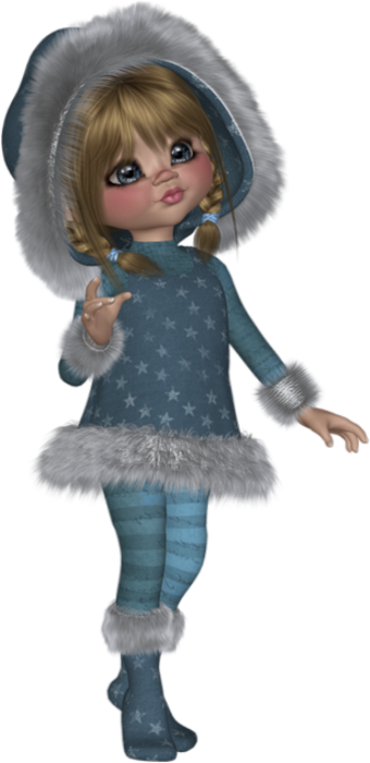 new concept 265d9 02e68 Tube cookie : hiver - Poser doll - Posertuben : winter ...