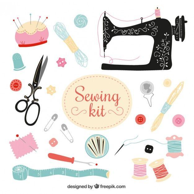 Kit de costura Vector Gratis | máquinas de coser | Pinterest ...