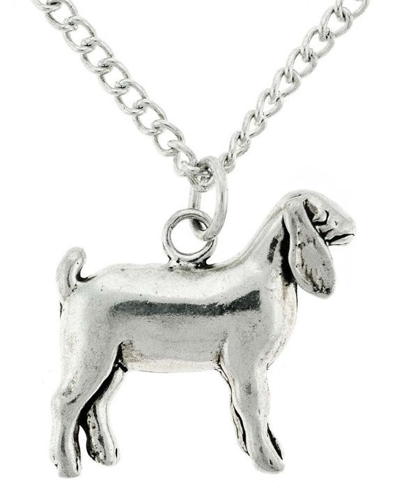 FFA & 4H Stock Show Wether Goat Necklace in Sterling by wirelady