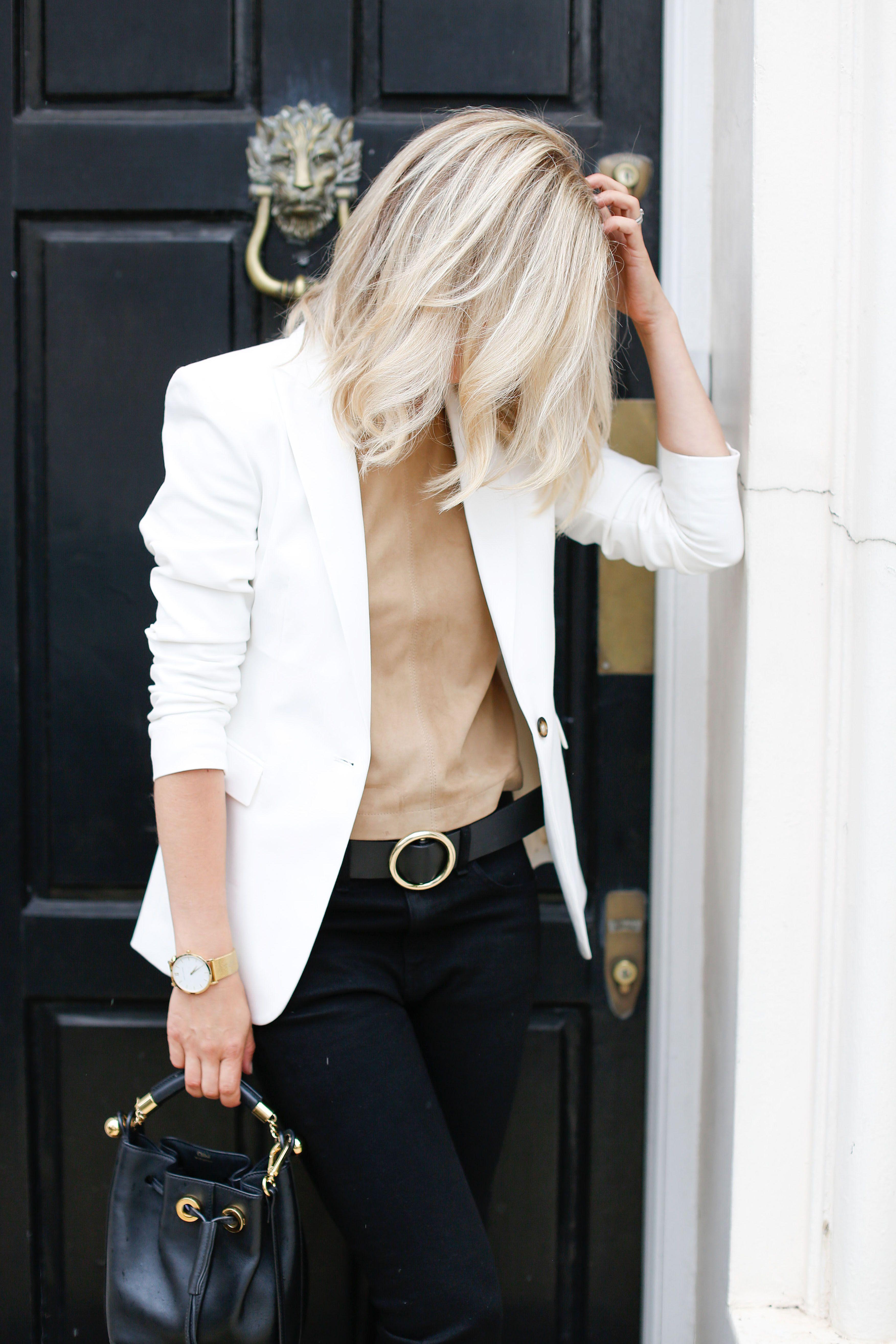 adeb4f30a7b white blazer …   White Blazer Look in 2019   Blazer outfits for ...