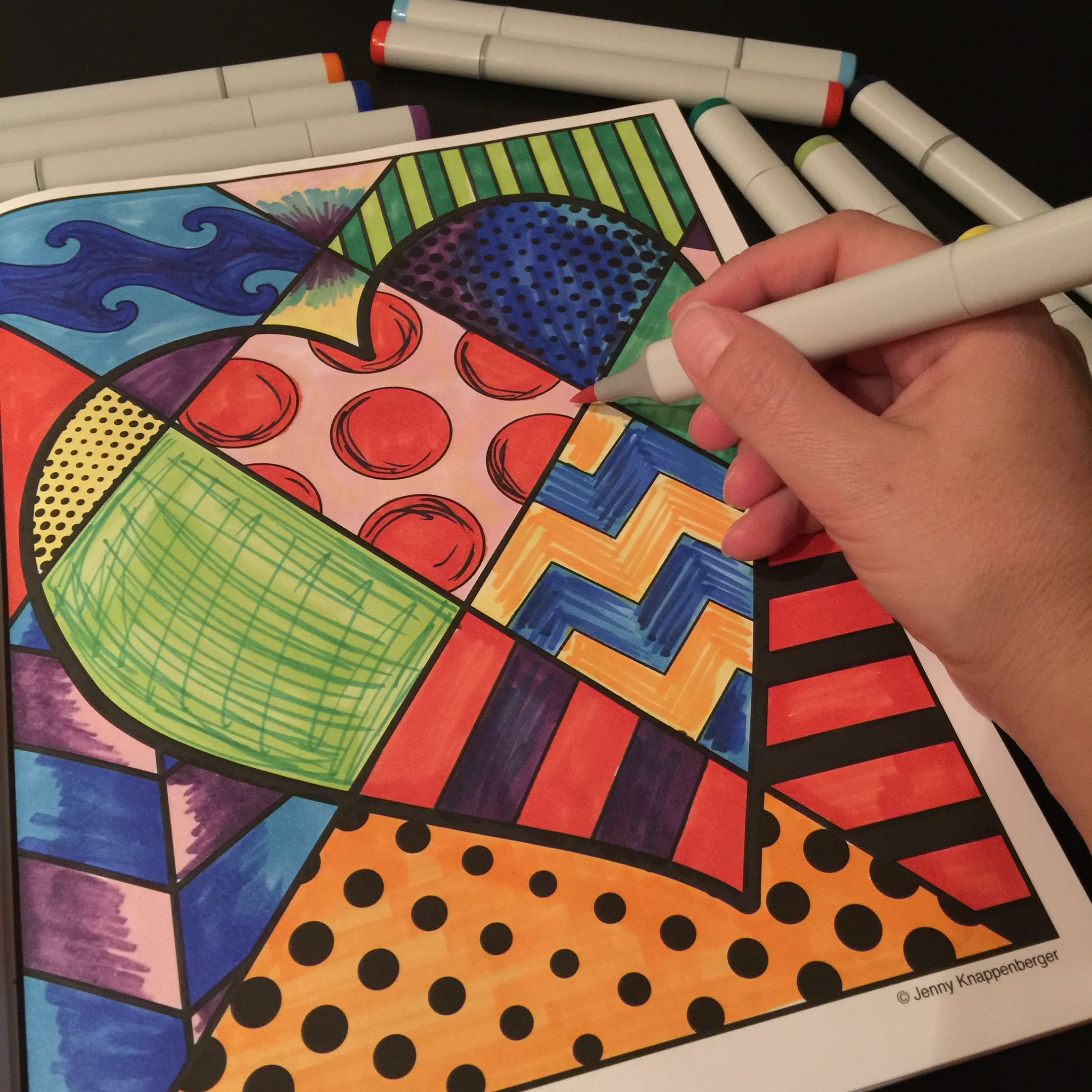 Interactive online adult coloring book - Pop Art Adult Coloring Book Enjoy A Unique Approach To Adult Coloring Books That Puts