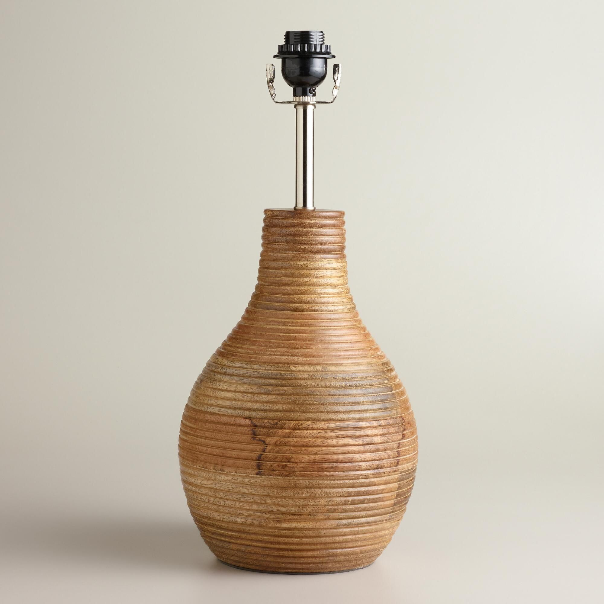 Ribbed wood table lamp base world market plastics pinterest ribbed wood table lamp base world market aloadofball Choice Image