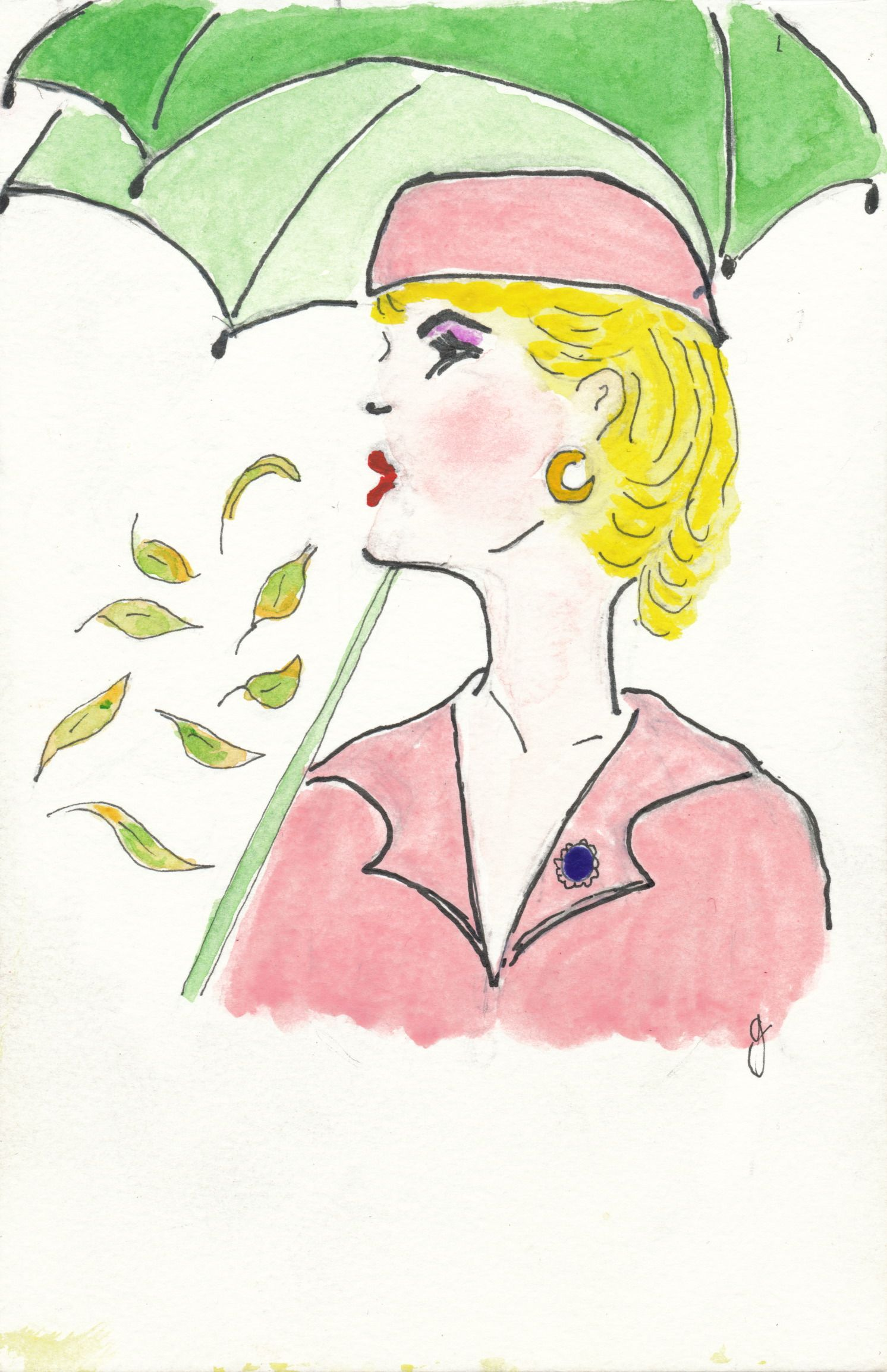 Autumn Winter 1950s Beauty. Illustration: Gillian Didham