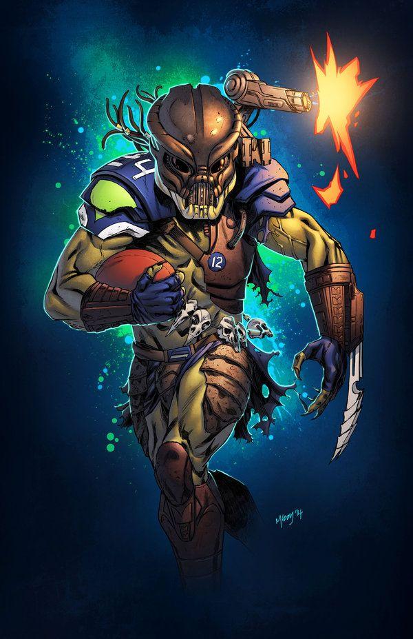 Marshawn Lynch Predator Lines By Kevin McCoy Colours Simon Gough