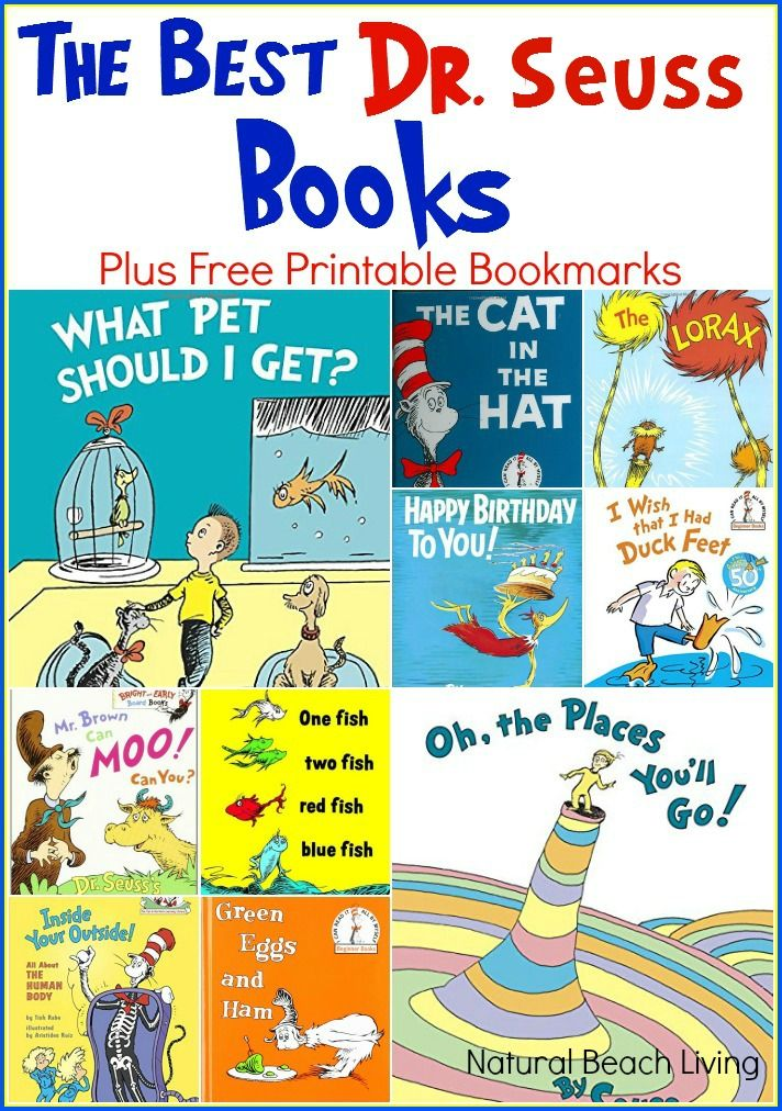 The Best Dr Seuss Books Free Printable All Year Round Books