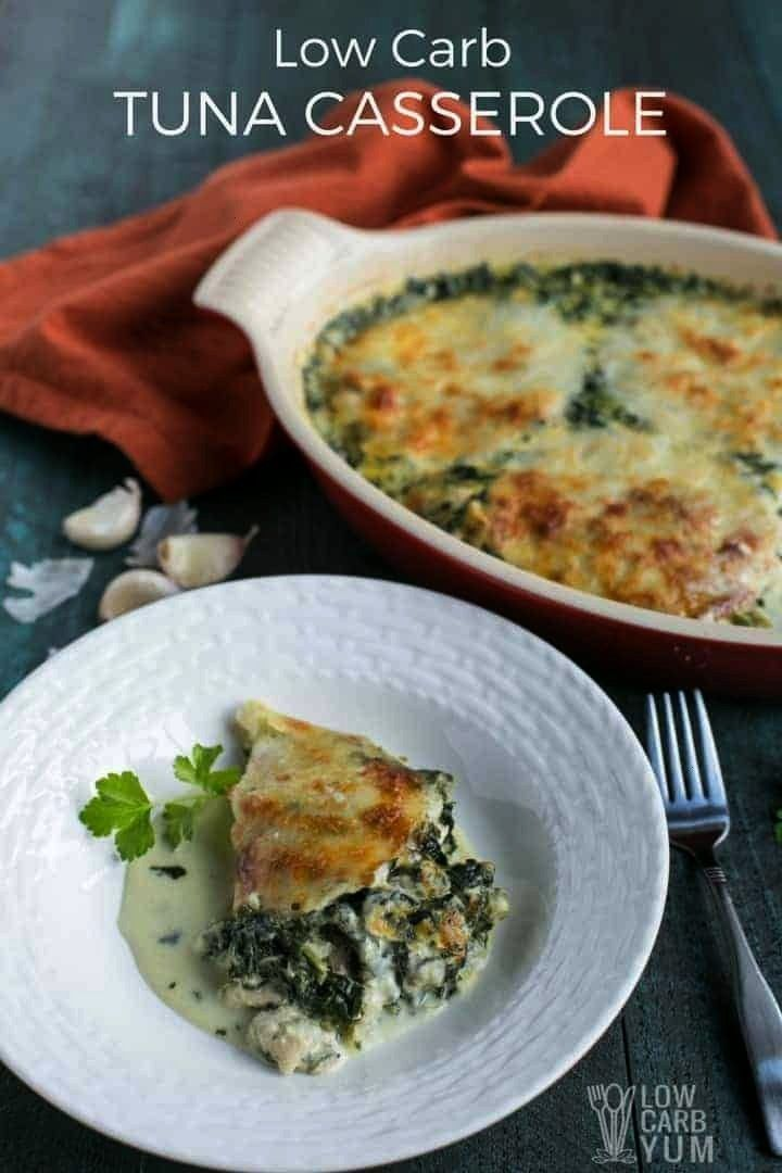 Tuna Spinach Casserole Recipe - Gluten Free A cheesy recipe with spinach that can be made in no tim