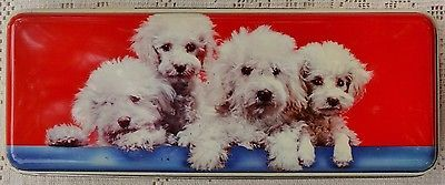 VINTAGE-HENRY-THORNE-CO-PREMIER-TOFFEE-TIN-W-TOY-POODLES-ON-LID-ENGLAND
