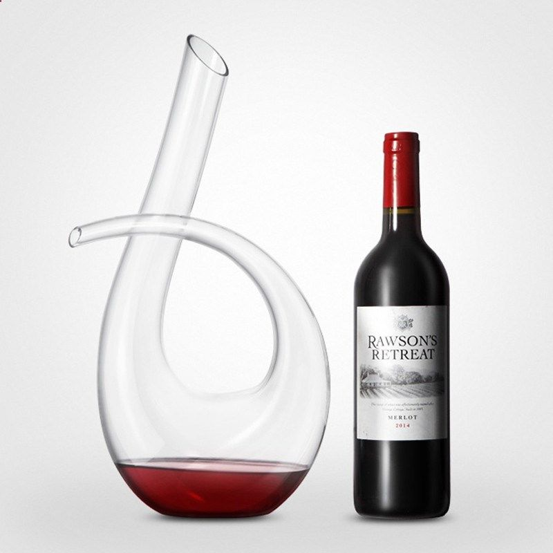 1200ml High Quality Crystal Glass 6 Shape Wine Pourer Wine Decanter Red Wine Carafe Aerator Wine Aerators Wine Decanter Wine Carafe