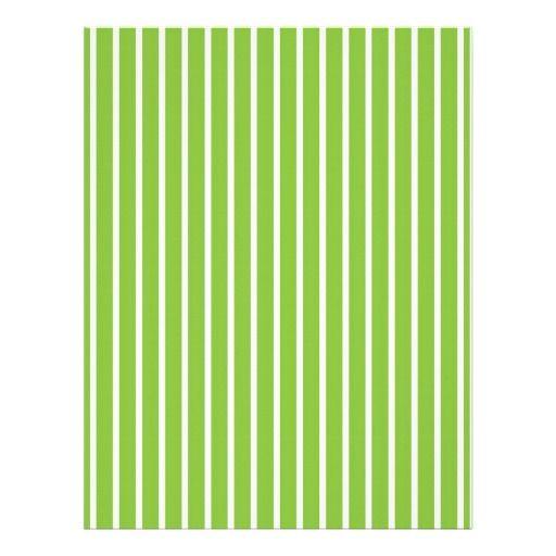 stripes green white baby scrapbook paper customized letterhead