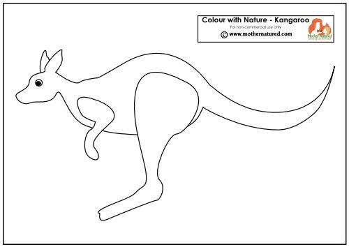 Kangaroo Printable Animal Templates Animal Quilts Fabric Postcards