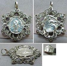 Ex-voto  ARGENT filigrane 19e s Autriche Hongrie Austro-hongrois silver pendant