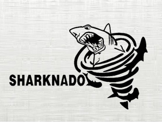 sharknado SVG cutting file , sharknado svg, dxf cameo