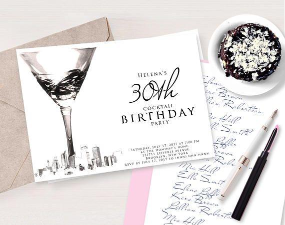 Birthday Invitations Download Digital Printable Invitation - how to make a birthday invitation on microsoft word