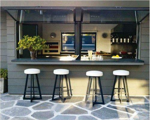 indoor/outdoor kitchen Paradise Home Pinterest Cocinas