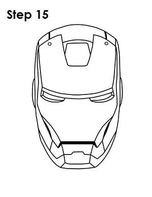 how to draw iron step 15 iron drawing marvel