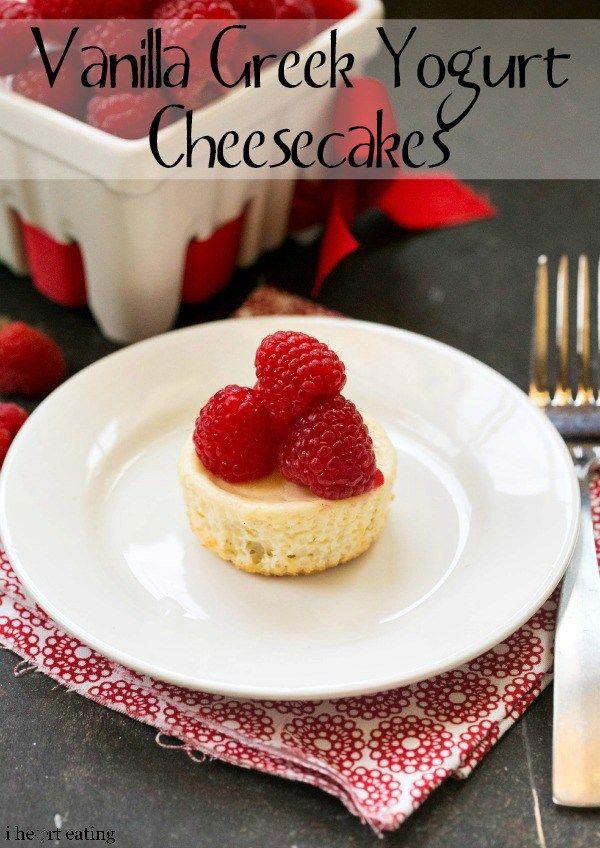 Individual Vanilla Greek Yogurt Cheesecakes Recipe Cheesecake Recipes Greek Yogurt Cheesecake Fun Cheesecake Recipes