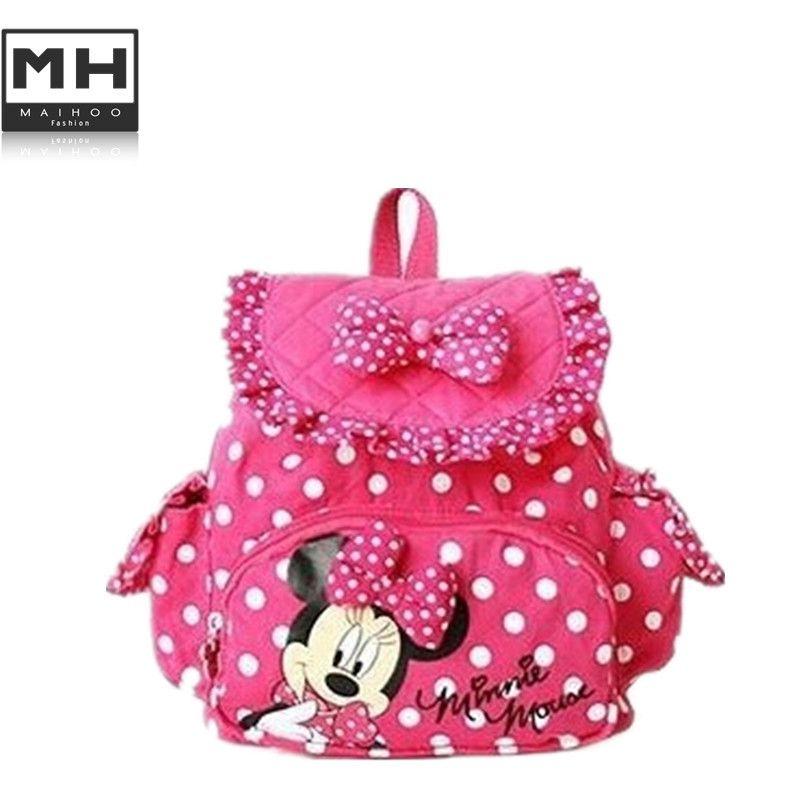 f27054b2cdec Encontrar Más Mochilas Escolares Información acerca de Lindo caliente pequeña  Minnie Micky ratón pequeño bebé muchachas de los niños mochilas escuela de  la ...
