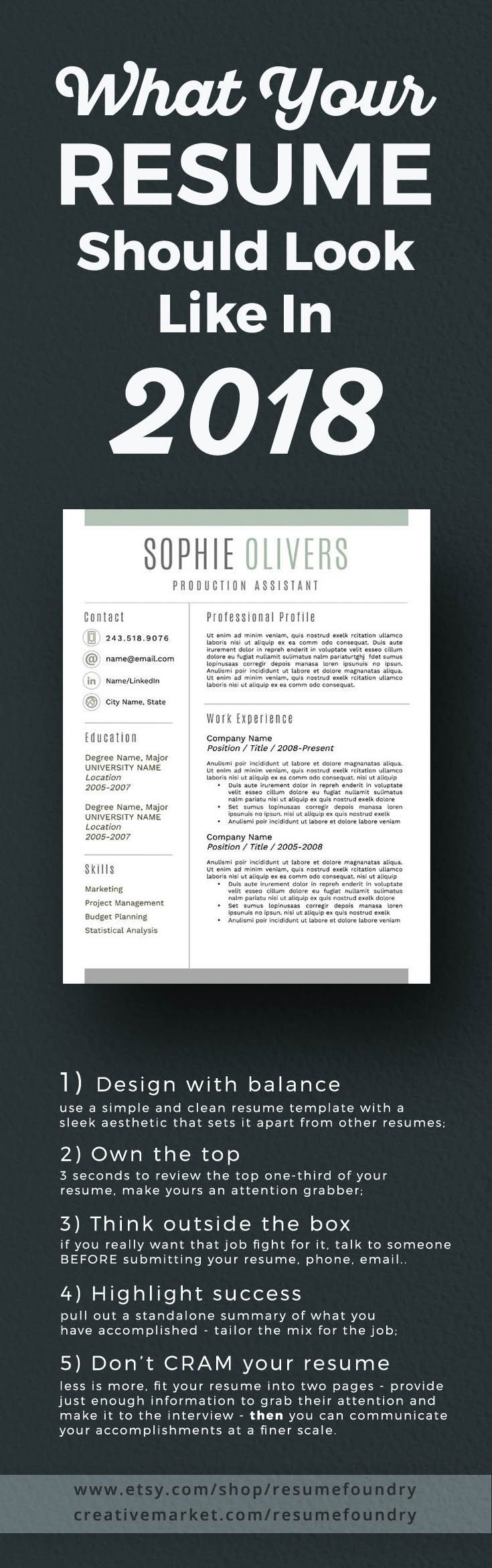 Modern Resume Template For Word, 1-3 Page Resume + Cover Letter + Reference  Page | Us Letter | Instant Download | Sophie | Success, Template And Texts
