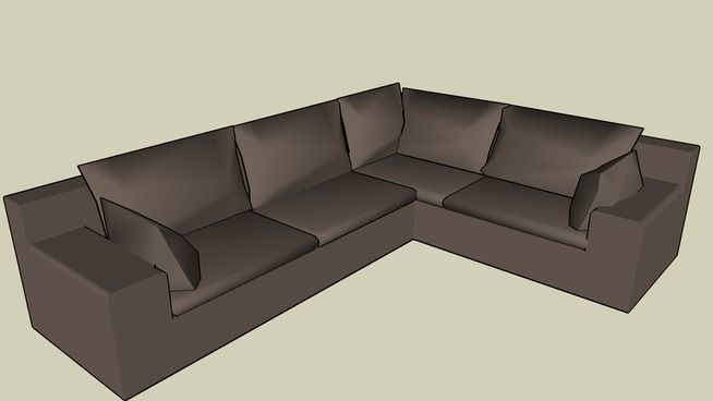 Marvelous Basic Comfy L Shaped Sofa   3D Warehouse Photo Gallery
