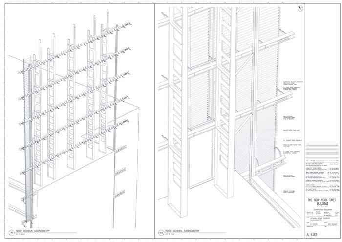 Dessins - The New York Times Building - Rpf