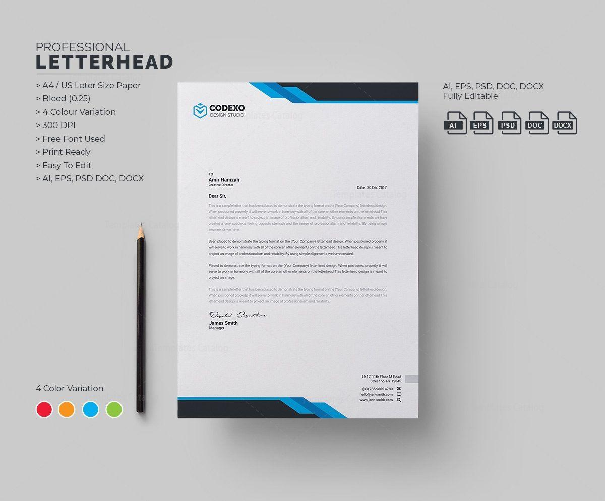 Samurai Professional Corporate Letterhead Template 000906