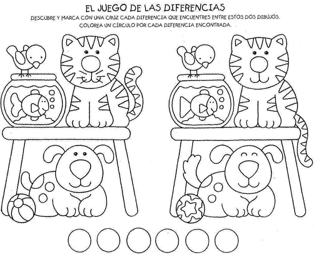 Material para trabajar la atención para imprimir gratis para niños ...