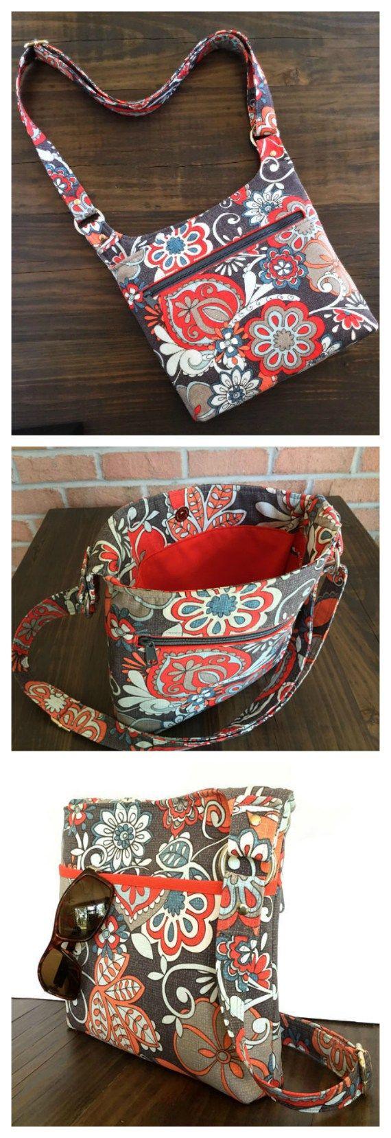 Vanessa - Hipster purse pattern | Taschen nähen, Nähen und Tasche ...