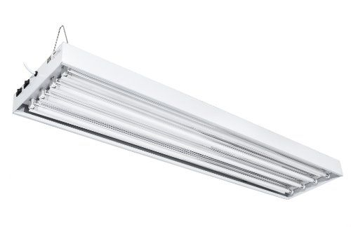 Ipower Glt5xx4x4 T5 Fluorescent 4 Tube Fixture Bloom Veg W Bulbs 4 Feet Powder Coated Ul Listed Steel Housing 10 Grounded Power Cord Rated Wattage 216w