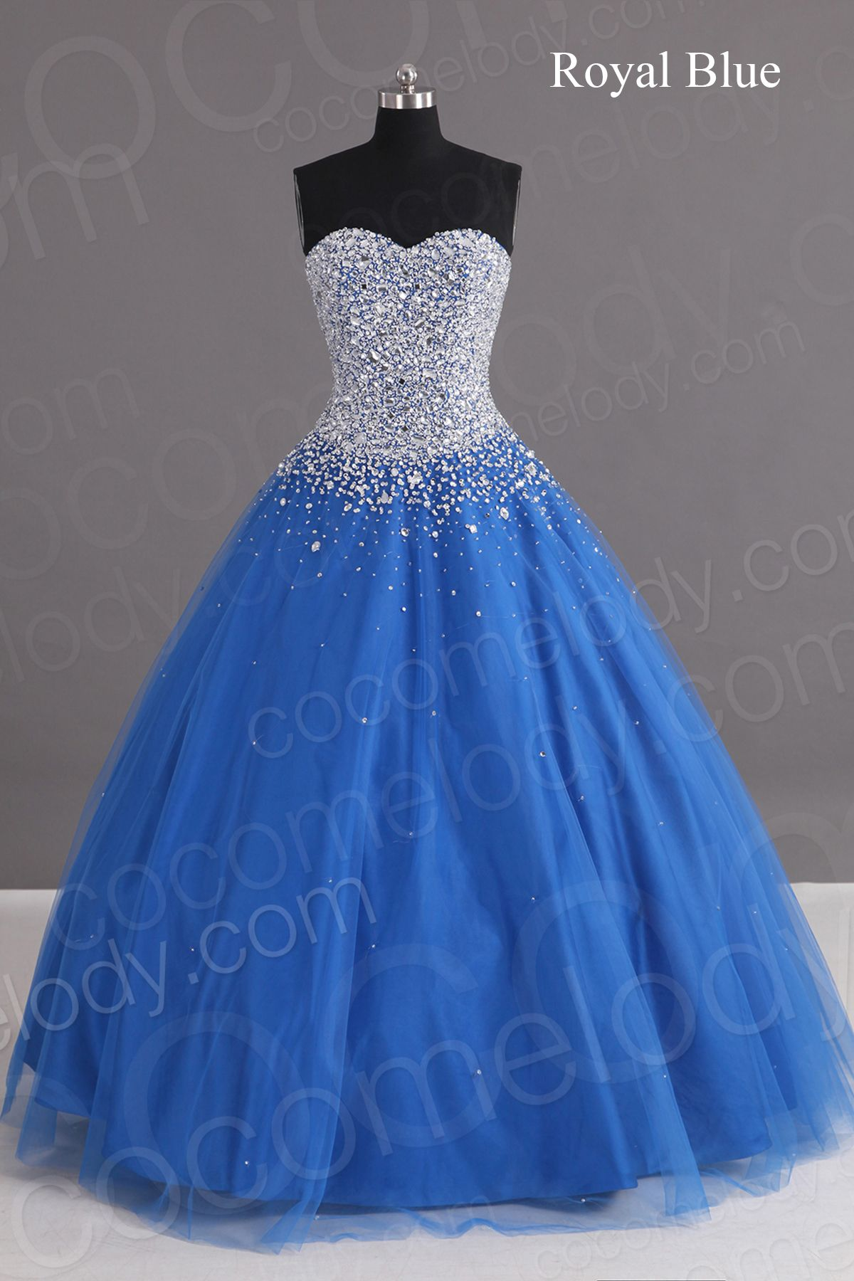 Charming a line sweetheart floor length tulle blue laceup corset