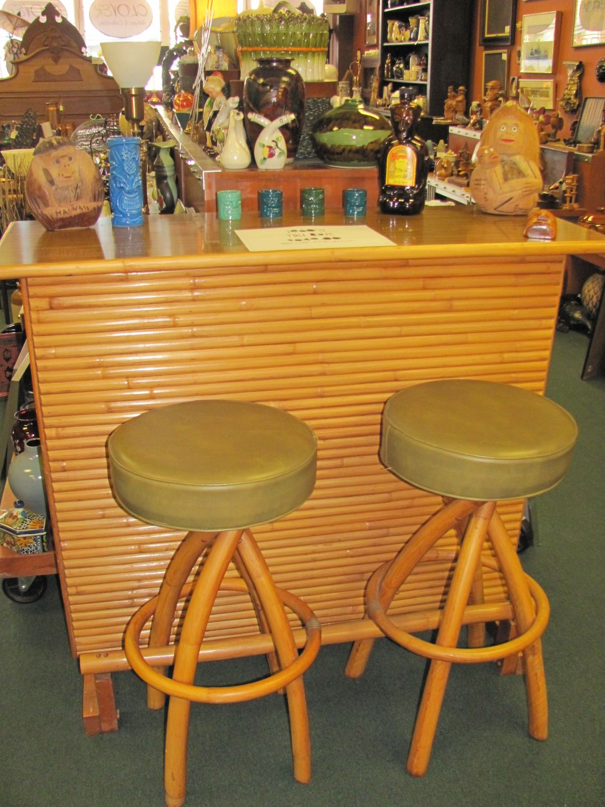 Vintage Tiki Bar I Like.. With Different Bar Stools Though