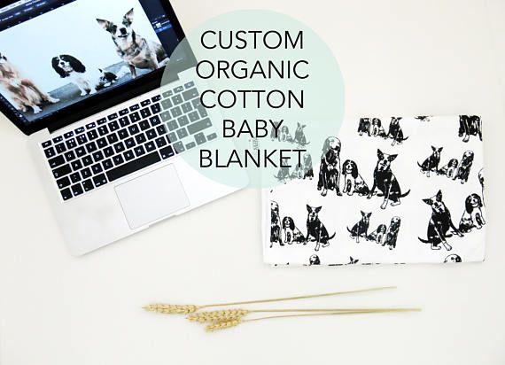 Personalized baby swaddle blanket dog baby announcement newborn personalized baby swaddle blanket dog baby announcement negle Image collections