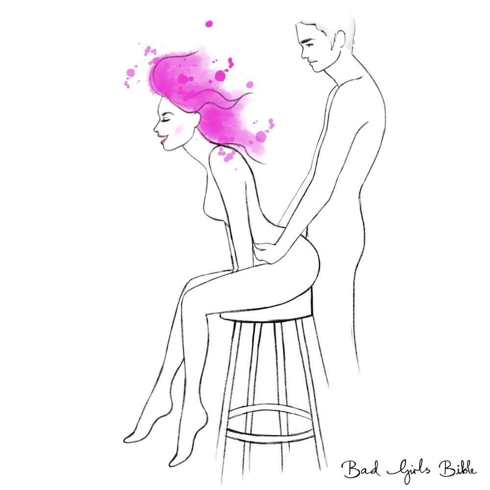 Learn how to perform the High Chair sex position with your partner. Check  out the