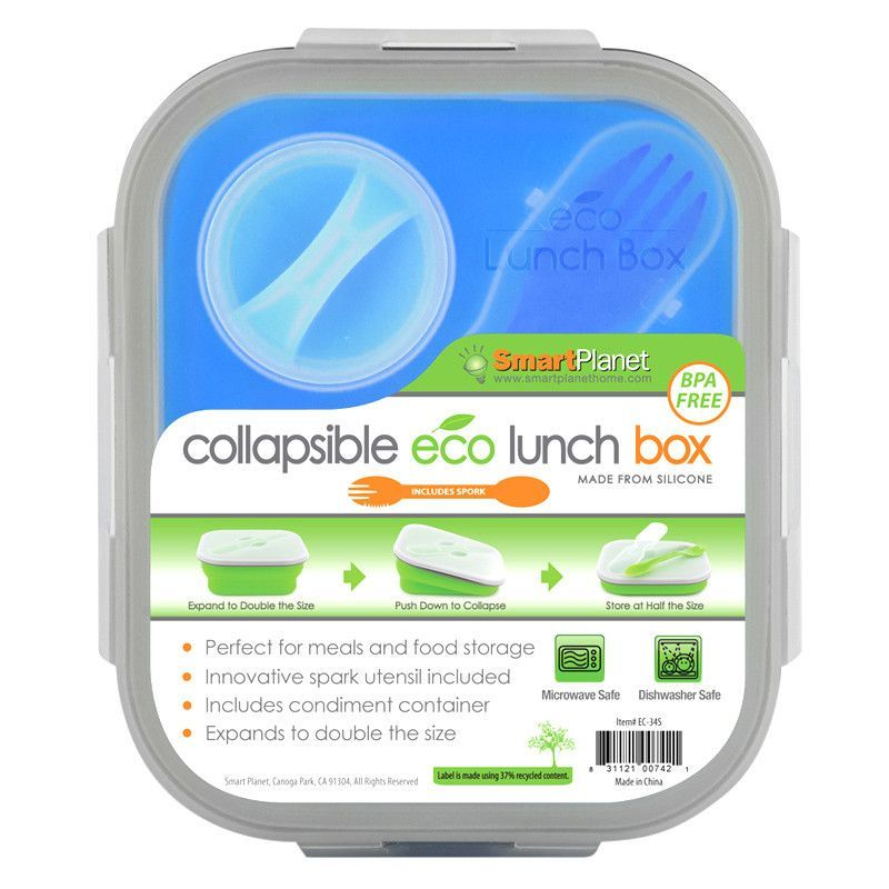 Smart Planet EC34SB Blue Meal Kit Small Collapsible 32 oz.