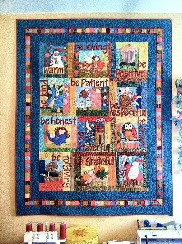Be Attitudes Quilt pieced by BHanke on quiltingboard.com | EPP ...