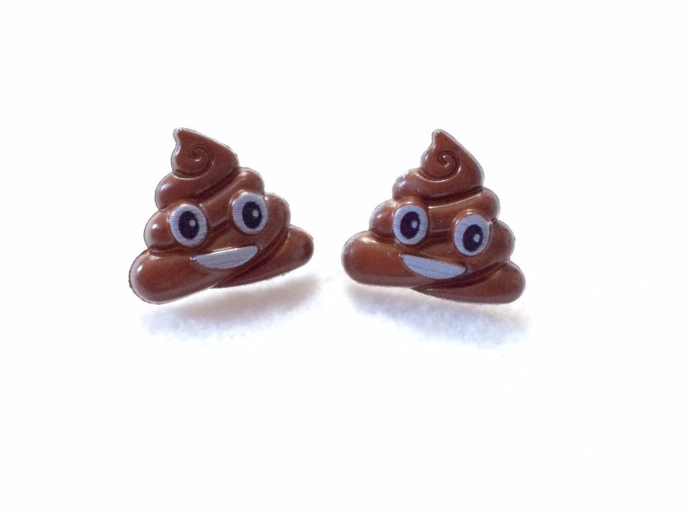 Emoji Fun Stud Earrings Ebay