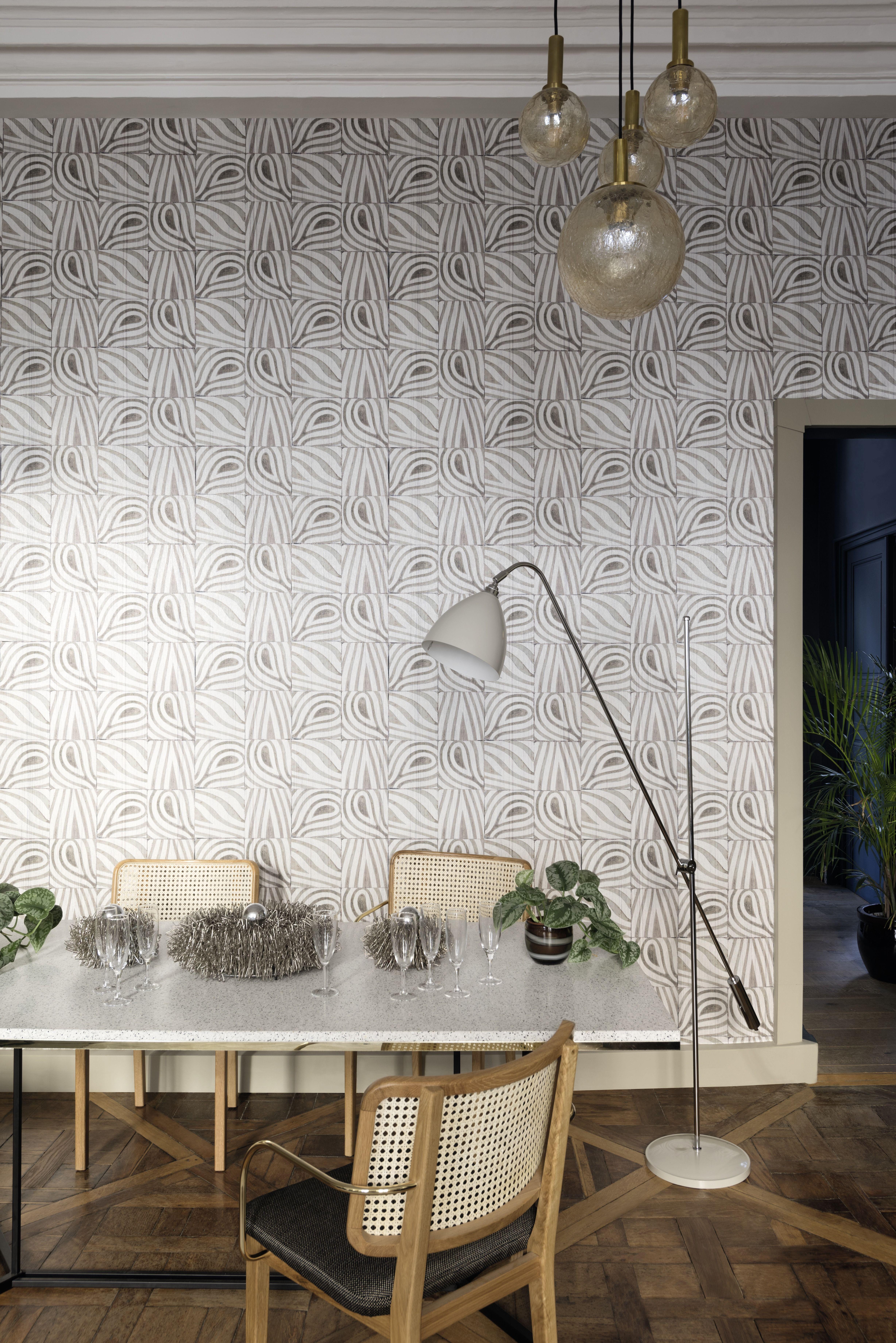 Bobale Wallpaper By Elitis Wall Tiles Wall Decor Indoor
