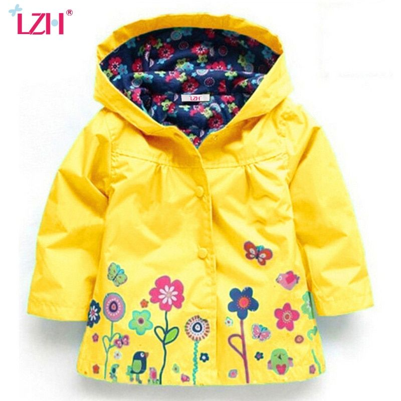 ec5e352c7ddd Baby Girls Jacket 2018 Autumn Winter Jackets For Girls Windbreaker ...