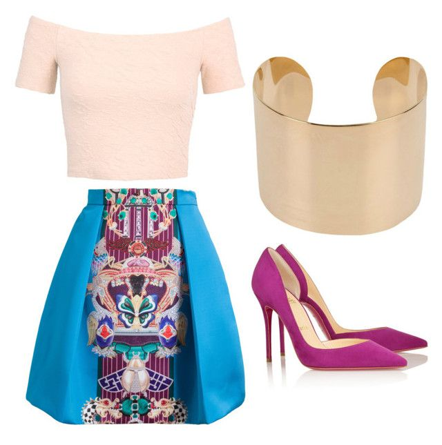 """Outfit Idea by Polyvore Remix"" by polyvore-remix ❤ liked on Polyvore featuring Christian Louboutin, Maison Margiela, Mary Katrantzou and Miss Selfridge"