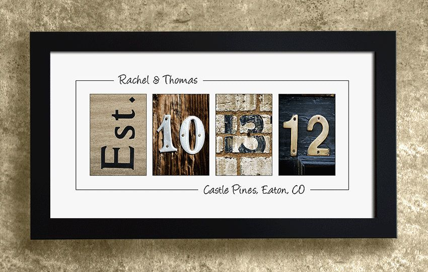 Numbers Photo Art Unframed Wedding Date Personalized Gift Idea 29 95