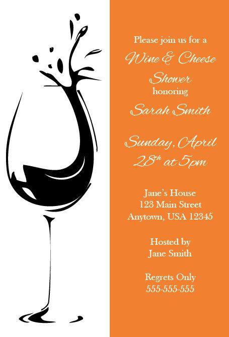 wine and cheese bridal shower invitation by nestedexpressions on, Party invitations
