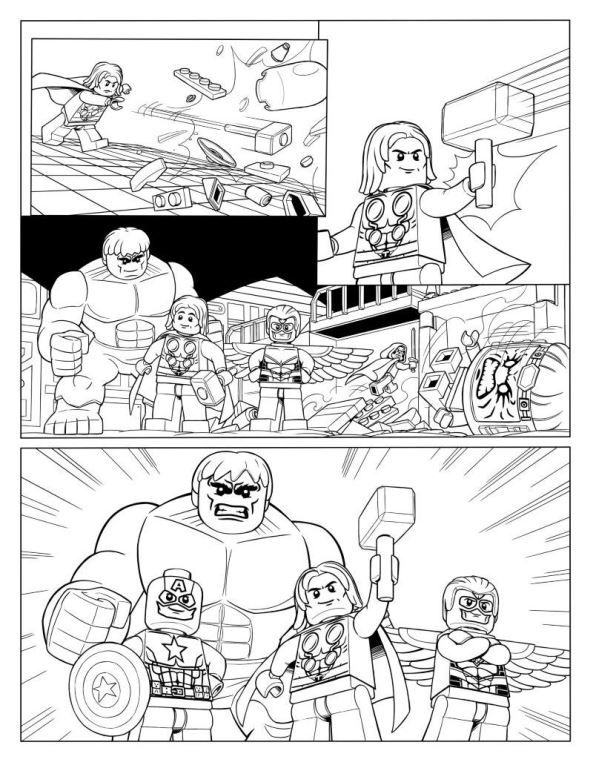 Cartoon Helden Kleurplaat Coloring Page Lego Marvel Avengers Avengers P10
