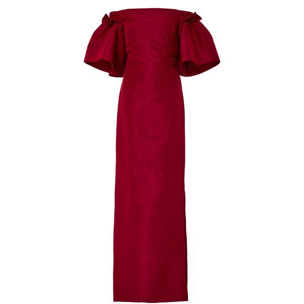 870ef87dd47 Oscar de la Renta Off-The-Shoulder Silk Gown ( 2