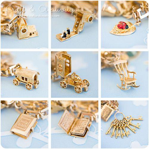 bracelet charms mmmaaaaaaaaa, there so intricate!!