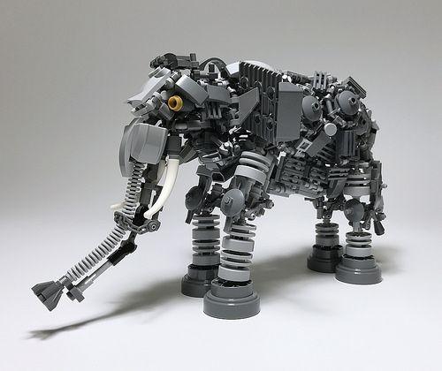 LEGO elephant by Mitsuru Nikaido