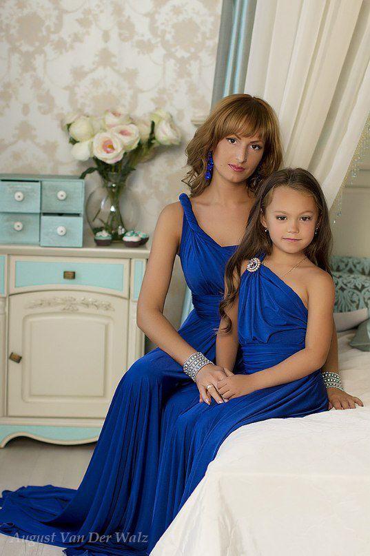 Mother Daughter Matching Dress Blue Maxi Dress Quot One Tones