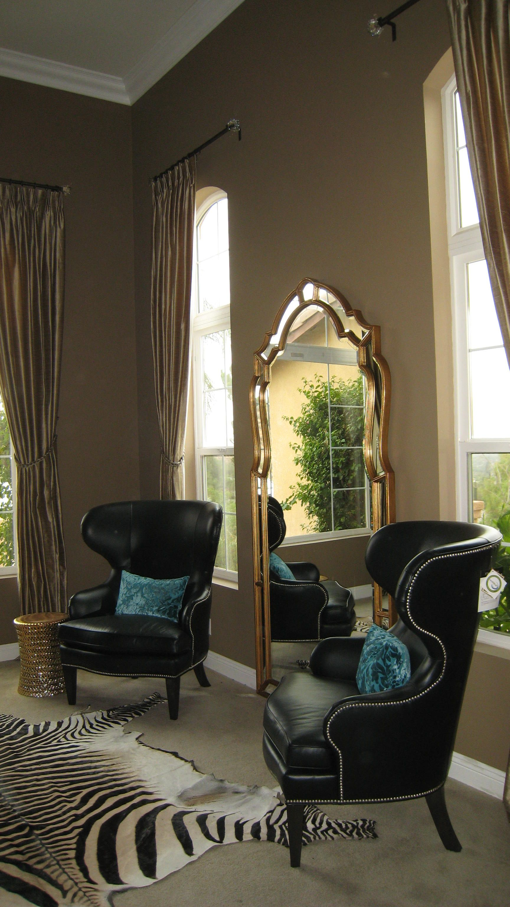 window chair furniture. Custom Window Treatments With Black Leather Rand Wing Chair. You Can Customize Your Own Chair Furniture O